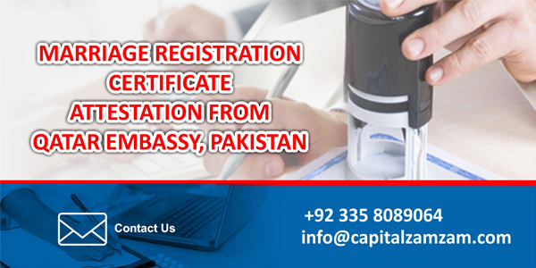 Marriage Registration Certificate Attestation from Qatar Embassy