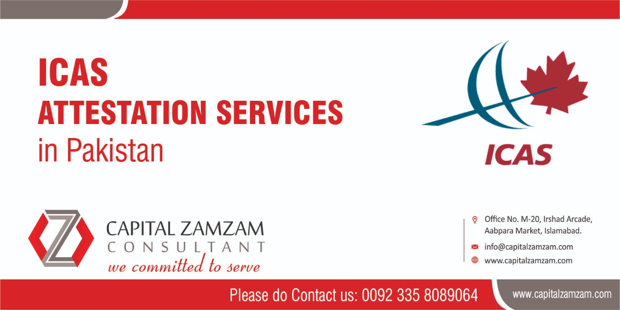 ICAS Attestation Services in Pakistan by Capital Zam Zam Consultants.