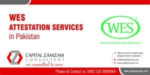 Degree Attestation from WES Capital Zam Zam